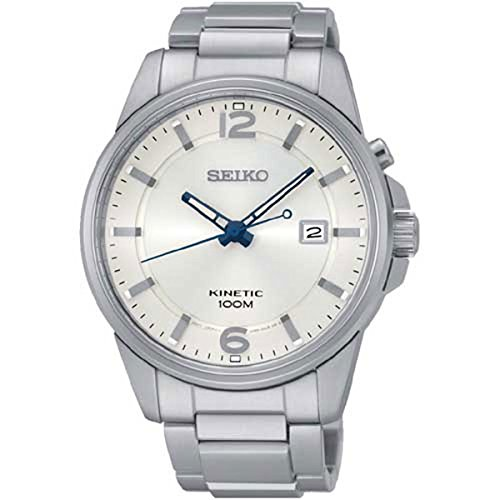 (Seiko Kinetic Silver Dial SKA663P1 Men's Classic Automatic Sports Watch)