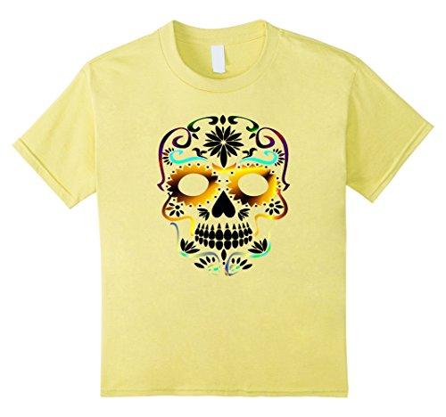 Kids Sugar Skull T-shirt 12 Lemon (T-shirt Boys Sugar)