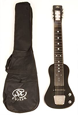 SX LAP 3 Black Lap Steel Guitar w/Free Carry Bag
