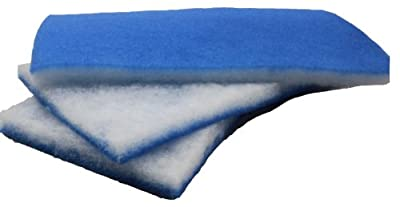 Value Pack -- Bonded Blue & White Poly Filter Pad Floss 600-square-inches from inTank, LLC