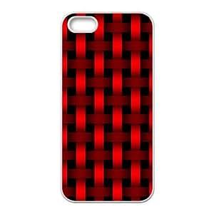 Bright red braiding pattern Phone Case for iPhone 5S(TPU) wangjiang maoyi