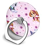 Paw Patrol Pup Power Light Pink Phone Ring Stand Holder - Cell Phone Holder 360 Degree Rotation Finger Ring Stand for Almost All Phones Cases
