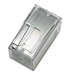 Warner 129 Single Edge Razor Blades in Dispenser (Pack of