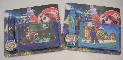 Super Mario Bros polso orologio e portafoglio/borsetta set regalo. Uno da due. (soggetto a disponibilità) hoodmania 801