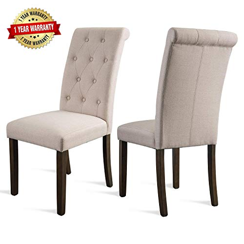 (Merax Dining Chairs Dining Room Chairs Parsons Chair Kitchen Chairs Set of 2 for Home Kitchen Living Room)