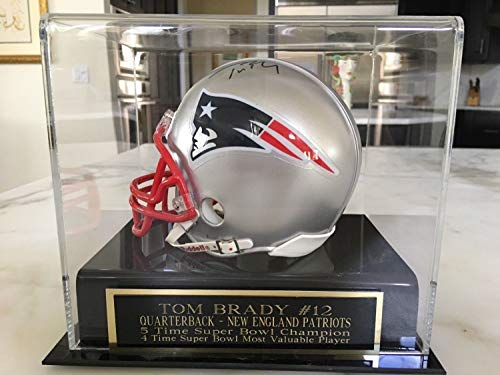 Tom Brady Autographed Signed/Autographed Signed Mini Helmet With Case & JSA Loa (Tom Brady Mini Helmet)