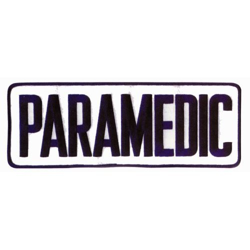 PARAMEDIC EMT EMS Large Uniform Jacket Back Patch 11