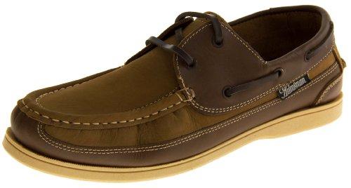 tipo de Helmsman Hombre Footwear Lace vela Boat canela de Zapatos piel hombre Mocasín Up cubierta Formal funda Studio Para Yq6OF