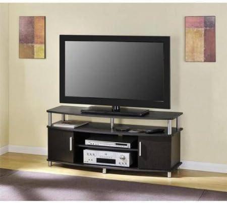 Amazon Com Carson 1195196 Tv Stand For Tvs Up To 50 Espresso Tv Table Furniture Decor