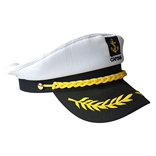 Funbase Unisex Captain Cap Retro Navy Hat Makeup Ball Uniform Costume Accessory for $<!--$11.00-->