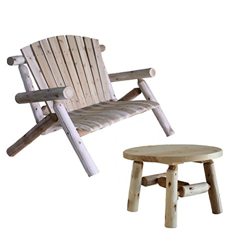 - Lakeland Mills Patio Love Seat with Round Table