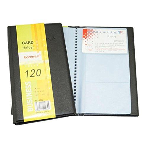 Card Holder, Kemilove Leather 120 Cards ID Credit Card Holder Book Case Keeper Organizer (Black)