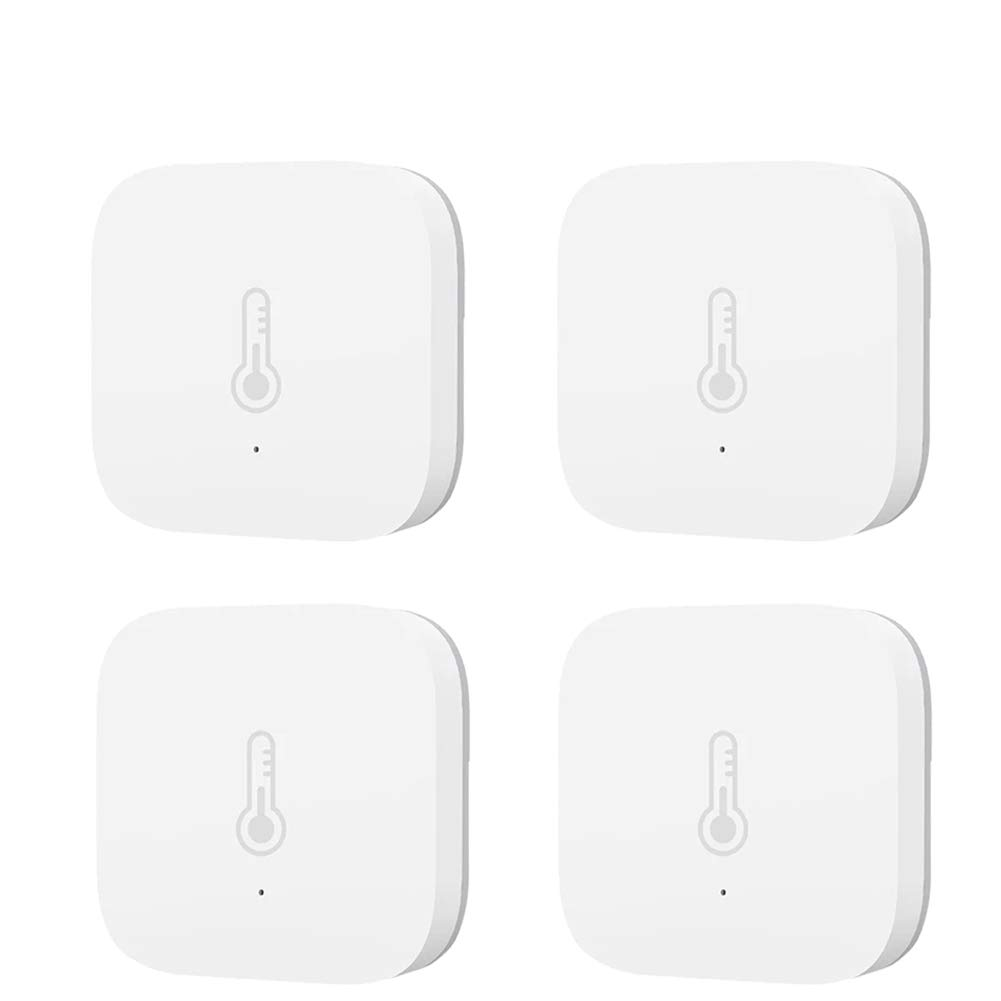 I/M Aqara Smart Temperature Humidity Sensor Zigbee Wireless Thermometer Hygrometer Smart Home Device Air Pressure Put The Baby Home Office Work with Mijia and Apple HomeKit APP (4PCS Thermometer)