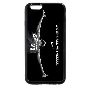 UniqueBox - Customized Black Soft Rubber TPU iPhone 6 Case, NBA Superstar Cleveland Cavaliers Lebron James Black Soft Rubber TPU iPhone 6 Case