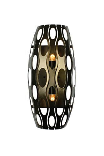 Varaluz 149W02SG Masquerade 2-Light Wall Sconce - Statue Garden Finish with Recycled Steel (Recycled Statues)