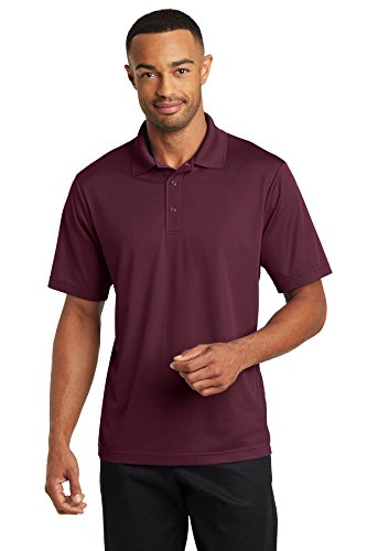 Averill's Sharper Uniforms Men's Server Three Snap Button Polo Shirt XL Maroon