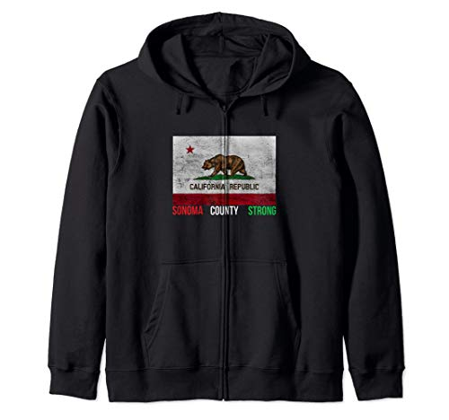 - Norcal Sonoma Strong, Wine Country Sonoma County Strong  Zip Hoodie
