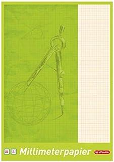 5 Blöcke Herlitz Millimeterpapier / 25 Blatt je Block / DIN A4