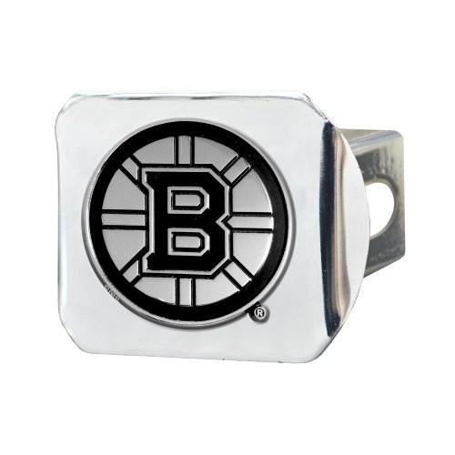 Fanmats 15143 NHL Boston Bruins Chrome Hitch Cover, 3.4''x4'' by Fanmats