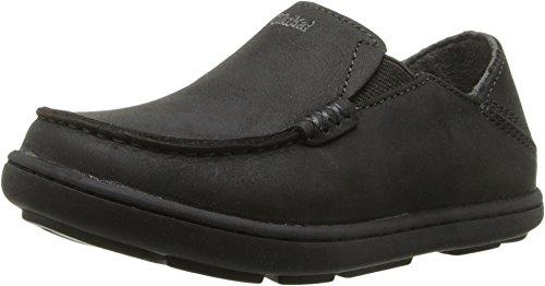 OLUKAI Moloa Boy's - Casual Shoe, Black/Dk Shadow, Size 3 M Us Little Kid ()