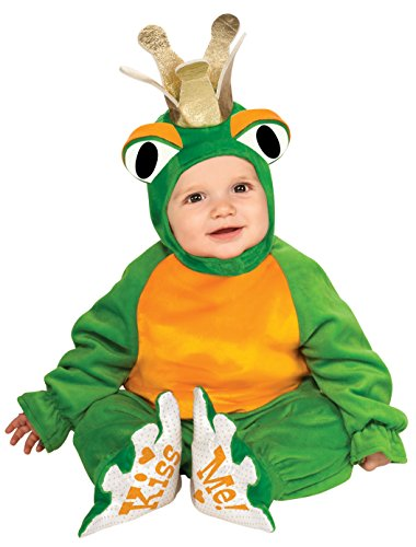 Frog Prince And Princess Costume - Rubie's Costume Cuddly Jungle Frog Romper Prince Costume, Green, 6-12 Months