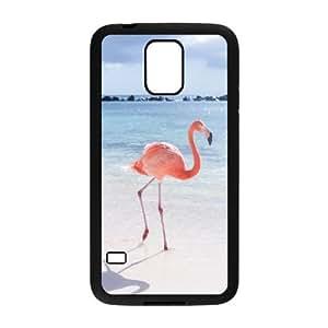 LSQDIY(R) Pink Flamingos SamSung Galaxy S5 I9600 Case Cover, Customized SamSung Galaxy S5 I9600 Cover Case Pink Flamingos