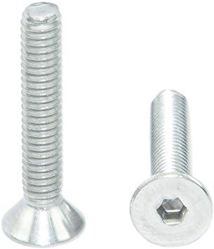 1//4-20 x 3//8 Size Flat Head Socket Cap Screws Metric Hardware Fastener Kit Allen Drive Stainless Steel Set of 100