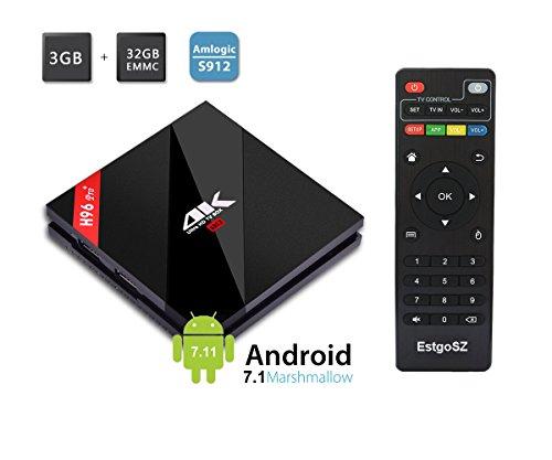 Find Discount 2017 Model EstgoSZ Android 7.1 Smart TV BOX 3GB RAM/32GB ROM Amlogic S912 Octa Core CP...