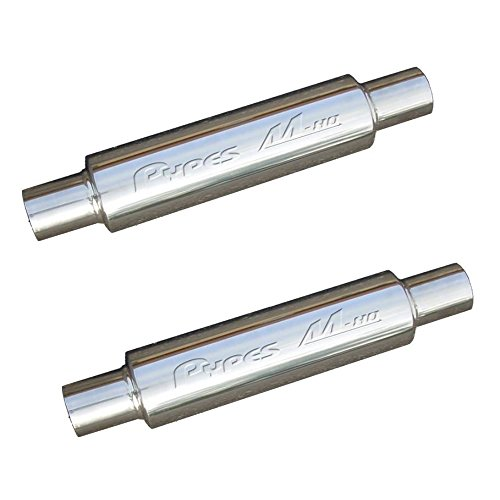 Pypes Performance Exhaust MVR200S Pair of Stainless Steel M-80 Race Pro Mufflers - 14