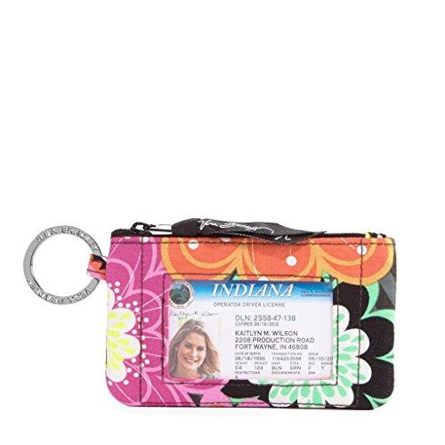 Vera Bradley Zip ID Case Ziggy Zinnia (Vera Bradley Key Chain Wallet)