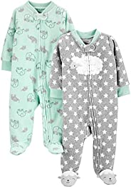 Simple Joys by Carter's unisex-baby 2-Pack Fleece Footed Sleep and Play Baby and Toddler Slee