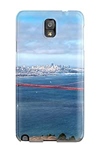 Tpu Case For Galaxy Note 3 With Golden Gate Bridge