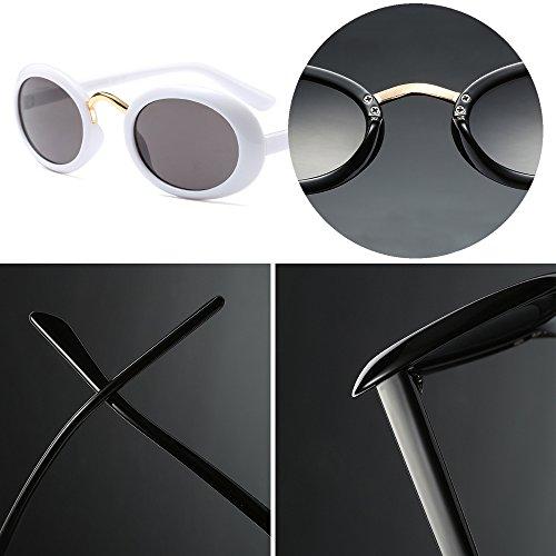 107456e578 BOZEVON Unisexo Mujer Moda Retro Oval Fiesta Hombre Steampunk Gafas Clásico  Gafas de Sol 85%