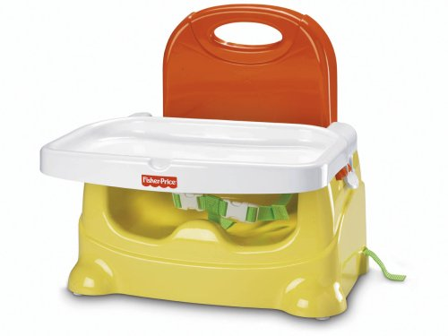 Yellow and Orange Fisher-Price Healthy Care Booster Seat Discontinued by Manufacturer