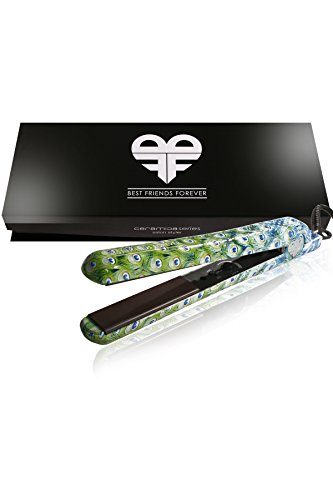BFF PRO Flat Iron Ceramic Hair Straightener Peacock