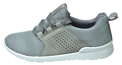 Krush Womens Ladies Lace-up Trainers Jogging Walking Shoes Ls0689-grey GTaCqPTC