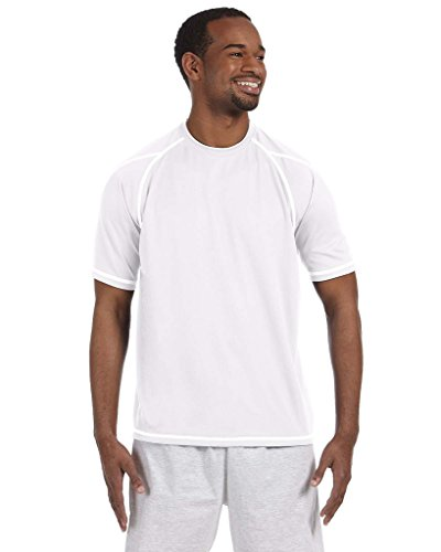 Champion 4.1 oz. Double Dry T-Shirt with Odor Resistance L WHITE ()