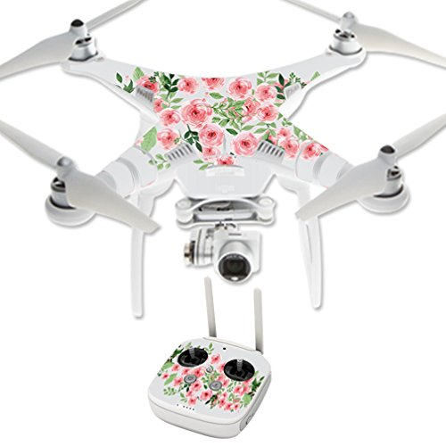 MightySkins Protective Vinyl Skin Decal for DJI Phantom 3 Professional Quadcopter Drone wrap Cover Sticker Skins Bouquet