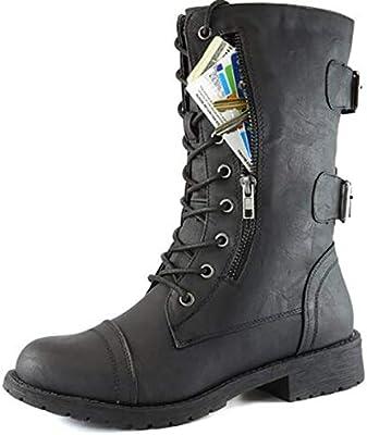Botas/Botas Martin De Gran TamañO para Damas De Invierno, Botas De Encaje para Mujer, para Mujer Y Botines. Zapatos De Moda para Mujeres Europeas Y ...