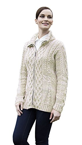 ladies-irish-zipper-wool-cardigan