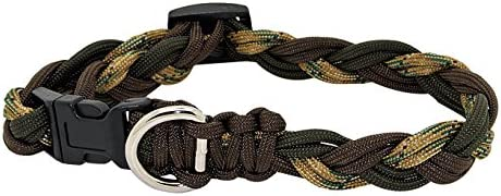 Leashes by Liz, SmallCollarCamoOD Adjustable Paracord Dog Collar, Small