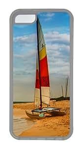 Lmf DIY phone caseBoat on oahu beach Custom iphone 5/5s Case Cover TPU TransparentLmf DIY phone case