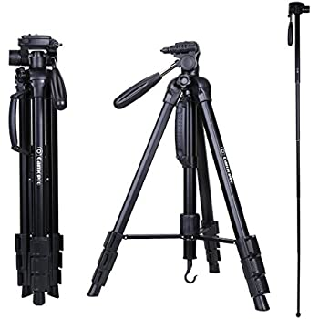 Tripod - Camopro 70 Inches Professional Digital SLR Camera Aluminum Tripod Monopod - Travel Portable Tripod for SLR DSLR Canon Nikon Sony DV Video with Carry Bag