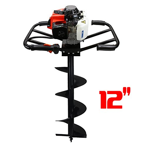 XtremepowerUS 2 Man 63CC 2 Stroke Planting Gas Post Hole Digger (Digger + 12'' Bit) by XtremepowerUS
