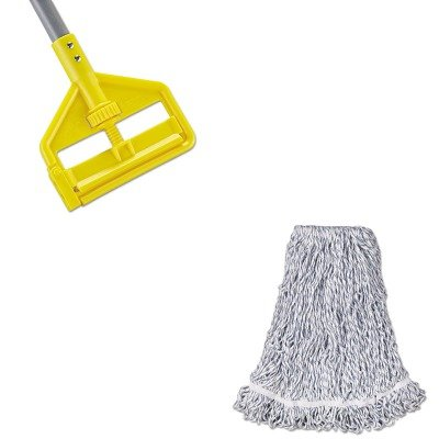 KITRCPA413RCPH146 - Value Kit - Rubbermaid Web Foot Finish Mop (RCPA413) and Rubbermaid Invader Fiberglass Side-Gate Wet-Mop Handle (RCPH146) by Rubbermaid
