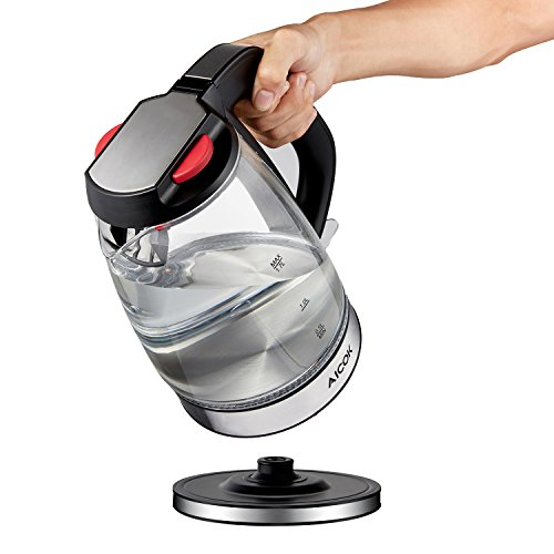 Electric Tea Kettles With Automatic Shut Off ~ Aicok glass electric kettle l fast water premium