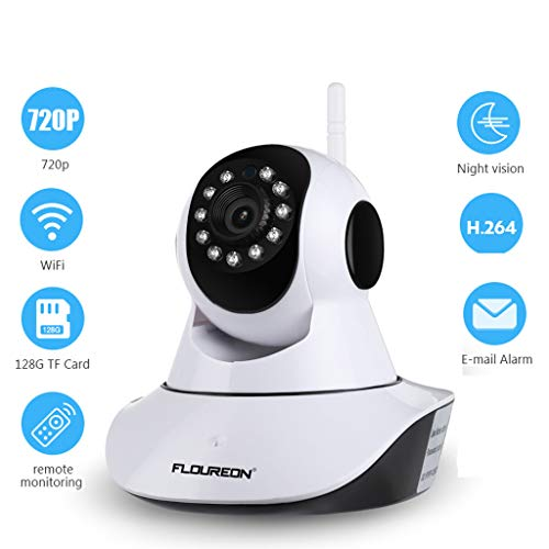 Jiankj Wireless Baby Monitor IP Camera WiFi 1080P HD Smart Home Security 10 m Night Vision Video Surveillance Indoor Camera (Design : AU Plug)