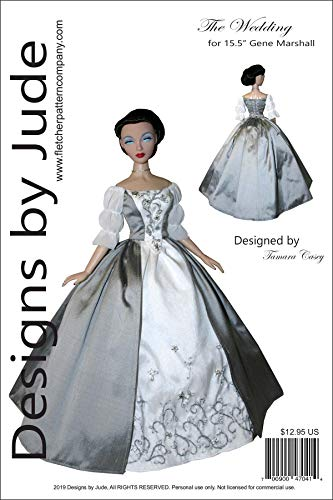 Outlander Wedding Dress Doll Clothes Pattern for 15.5