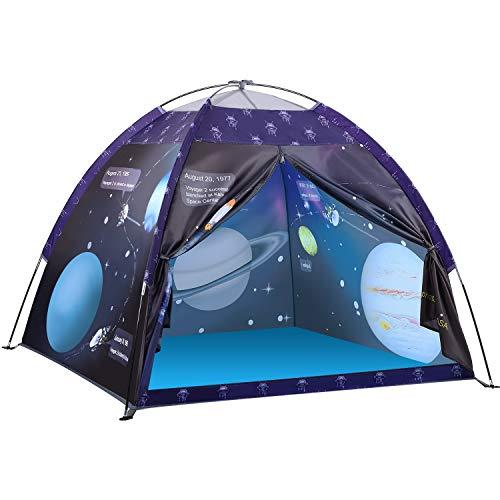 Exqline Speeltent voor Kinderen, Kindertent voor Binnen en Buiten, Universum Heelal Thematent Pop-up Tent Campingtent…