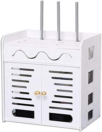 Xyanzi-DVDラック ワイヤレス無線LANルータの収納ボックスセットトップボックスの棚の壁掛けマルチメディアアクセサリーゲーム機、2サイズ 機能的な収納棚 (サイズ さいず : 35*25*32cm)